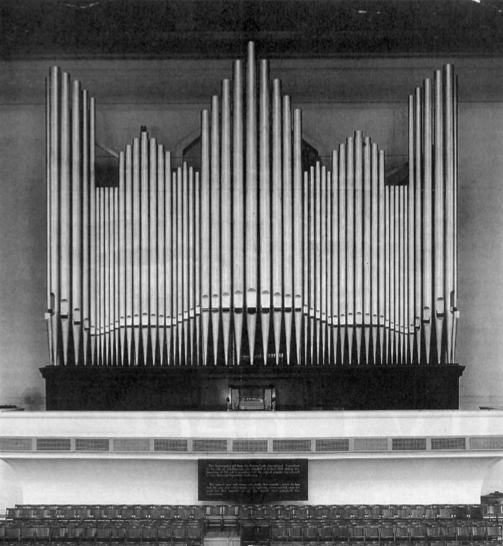 At the close of the Panama Pacific International Exposition, the organ was moved to San Francisco's Civic Auditorium, which was built to accommodate its 46-by-20-foot dimensions.