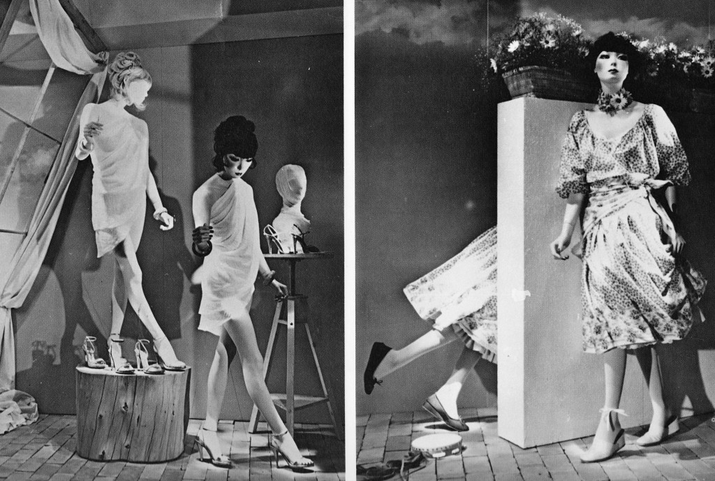 Two 1970s-era catalog images of Rootstein's Sayoko mannequin, a collector favorite.