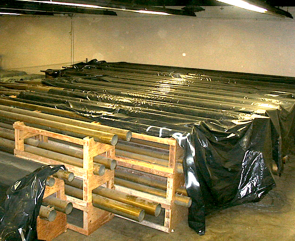 All 40 tons of the Exposition Organ, including its zinc pipes, are currently in storage in Brooks Hall, which is hidden beneath Civic Center Plaza.