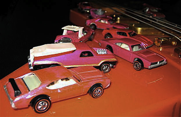 If these cars could talk: Some of Dave's Redlines, hanging out on the late John Entwistle of The Who's bass.