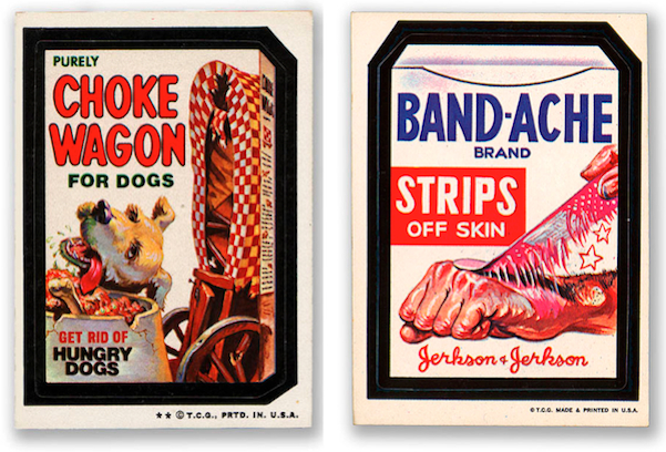 Choke Wagon and Band-Ache were pulled due to legal action by Chuck Wagon and Band-Aid, which did not appreciate the parodies of their products.