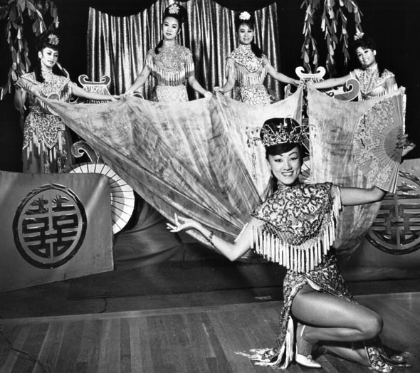 "Coby Yee, billed as ""China's Most Daring Dancing Doll,"" bought Forbidden CIty in the early 1960s."