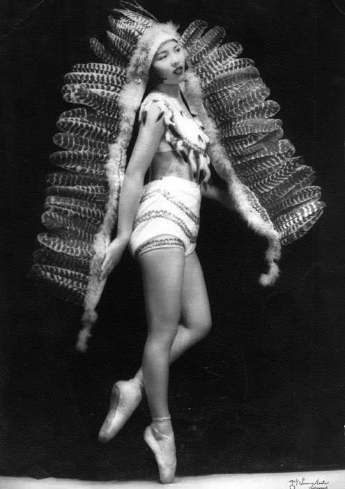Dorothy Toy, born Dorothy Takahashi, was dancing en pointe by age 12, as she is in this picture. By age 15, she was starring in movies.