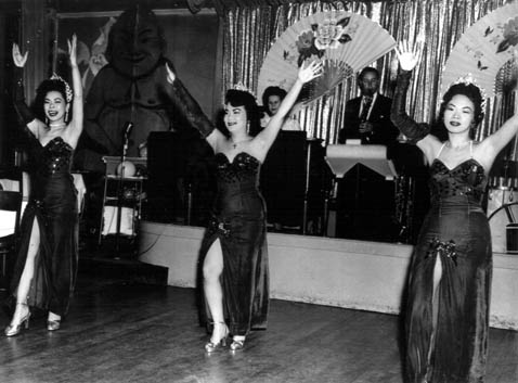 One of Robbins' dance classmates, Pat Chin, far right, was a chorus girl at the Chinese Skyroom in the 1950s.