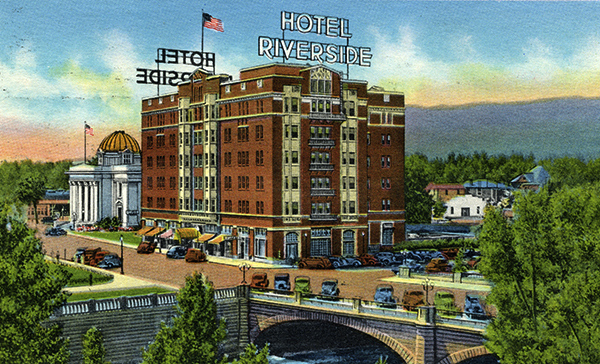 Reno's Riverside Hotel was built in 1927 next door to the Washoe County Courthouse to accommodate divorce-seekers lured to the state by its then three-month residency requirement. In 1931, the state's residency requirement was shortened to six weeks.