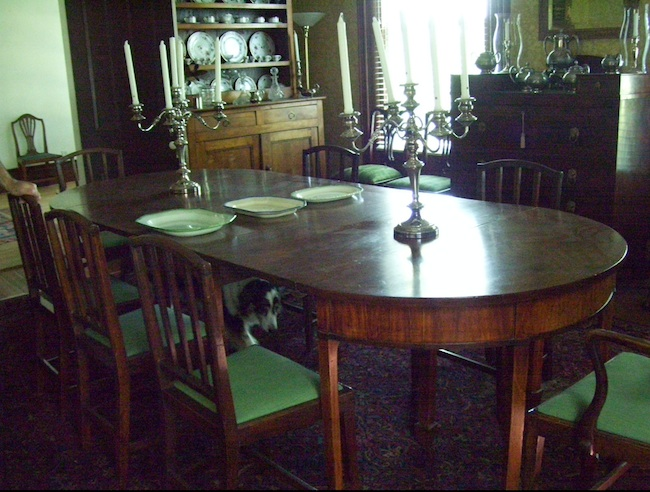 The dining room at Buckner Hill Plantation. (Photo by Arnold Modlin)