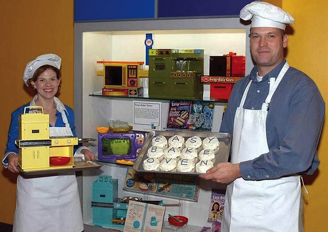 A photo from the 2006 party at the National Toy Hall of Fame in Rochester, NY, celebrating the induction of the Easy-Bake Oven. (Courtesy of Todd Coopee)