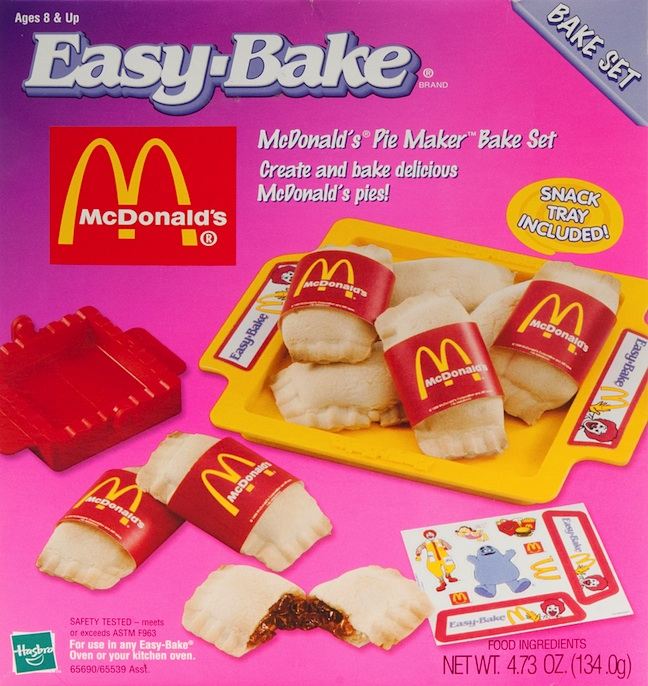 In the 1990s, Hasbro incorporated co-branding into Easy-Bake bake sets, like this one that let kids make McDonald's fruit pies. (Courtesy of Todd Coopee)