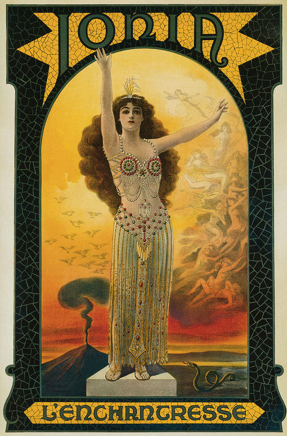 Ionia was one of the few female-magician headliners, and she often represented herself with mythical symbols. Courtesy Zack Coutroulis.