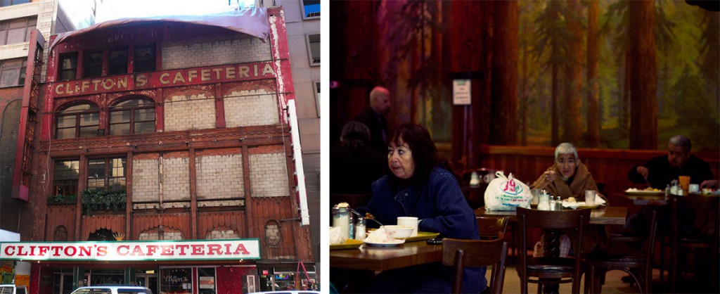 Left, the Brookdale's original facade was revealed during renovations in 2012. Photo courtesy J. Eric Lynxwiler. Right, most recent diners at the Brookdale had been lifelong fans. Photo courtesy Jesse Monsour.