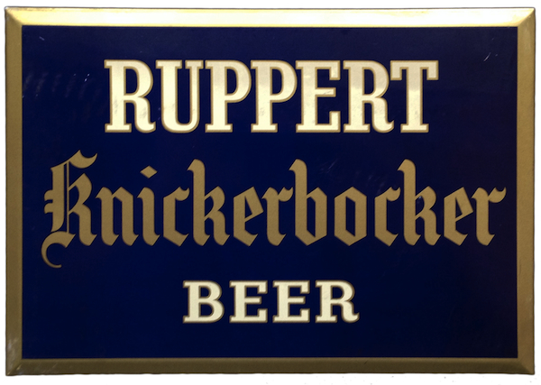 By the early 1940s, the Knickerbocker brand was elbowing the Ruppert name for prominence. Photo by Ken Quaas.