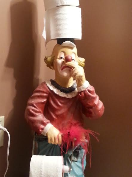 An item from Hartmier's clown collection, displayed in her bathroom. (Courtesy of Deanna Hartmier)