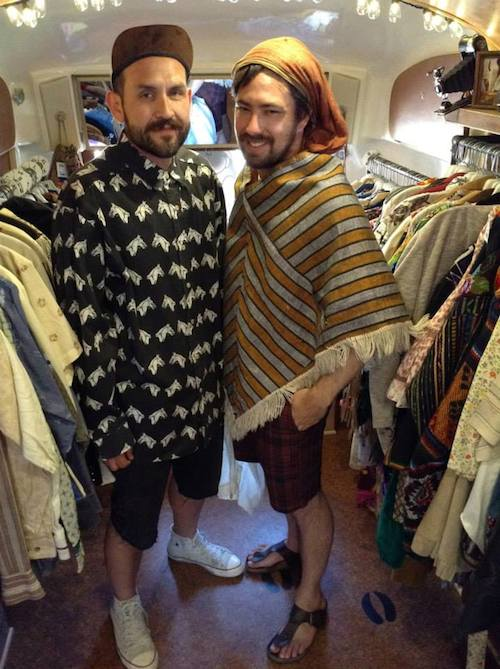 The Buffalo Exchange pop-up store features the same sort of vintage ethnic looks, like ponchos, the first store sold in 1974. (Via the Buffalo Exchange Facebook page)