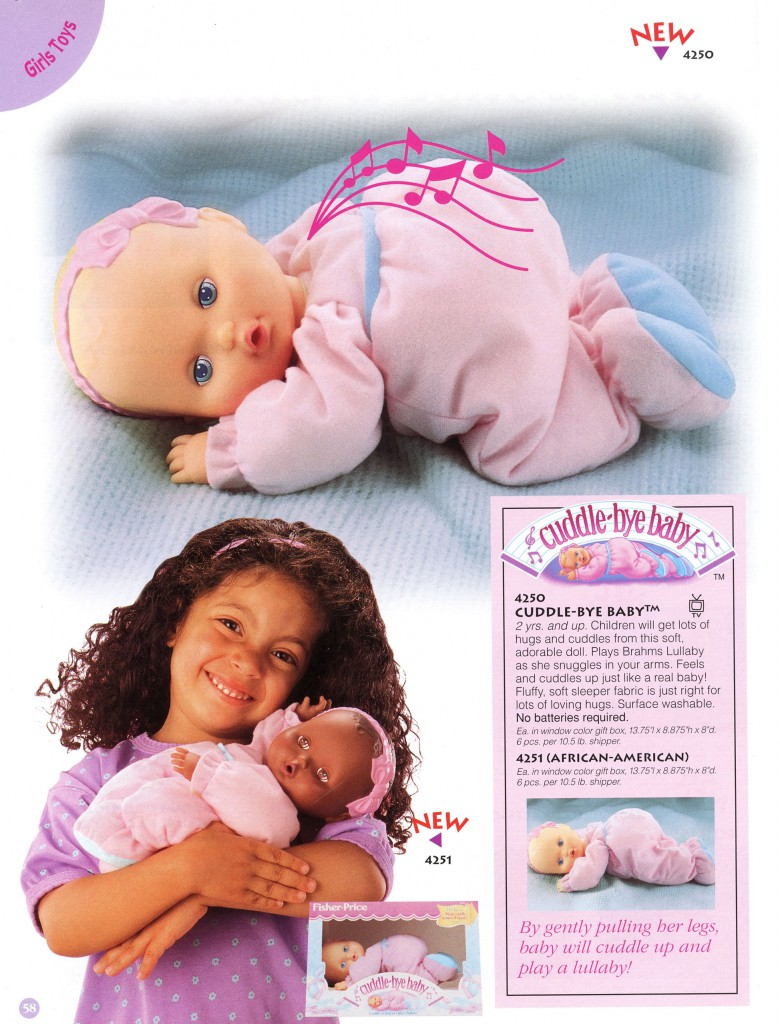 In the early 1990s, Eskander came up with the Cuddle-bye Baby concept, which she later sold to Fisher-Price.