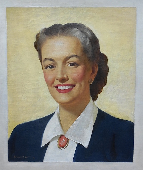 "Above: A portrait of Irma Harding by Haddon Sundblom, who also gave the world Aunt Jemima and the Coca-Coca Santa Claus. Top: The same year IH was crowing about how its refrigerators were ""femineered,"" the company was more than a quarter billion dollars in debt."