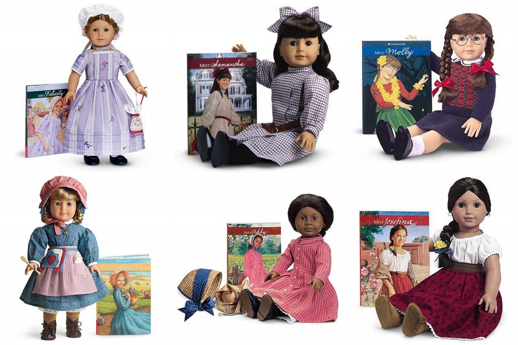 American Girl dolls represent a cross-section of race and history, made with companion books that tell each character's full backstory.