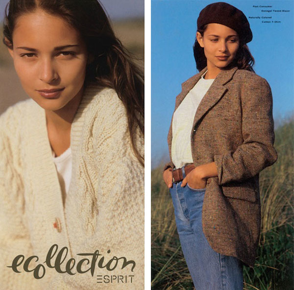 Images from a 1990s Esprit catalog featuring Lynda Grose's ground-breaking Ecollection.