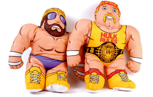 "One of Eskander's surprise successes was this series of ""Wrestling Buddies"" plush toys aimed at little boys in the 1980s, which TIME magazine named one of the 100 greatest toys."