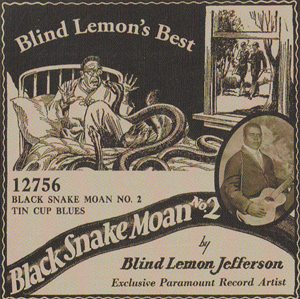 Blind Lemon Jefferson, who was born blind to Texas sharecroppers, became one of Paramount's most successful blues artists. (Via HeroesOfTheBlues.com)