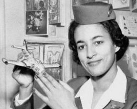 Ruth Carol Taylor, the first African American stewardess.