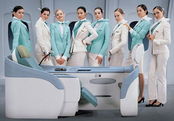 After coveting the current Korean Air uniform by Gianfranco Ferre, Muskiet scored one this summer.