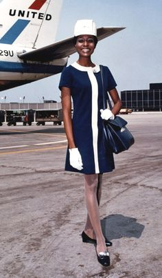 Jean Louis designed this A-line dress with a kefi hat for United in 1968.