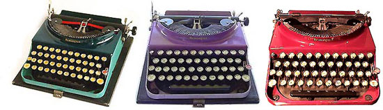 Remington portable typewriters