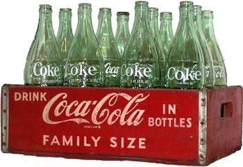 Coca-Cola Enjoy Coke Rare Vintage 1970/'s glass large 24 oz  clear White Letters