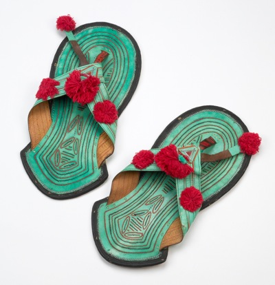8d3b87519bfa Wide Hausa thong sandals from West Africa are dyed with natural pigments.  This pair is