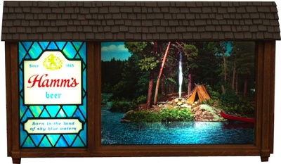 Hamm S Scene O Rama Beer Sign Bliss Collectors Weekly