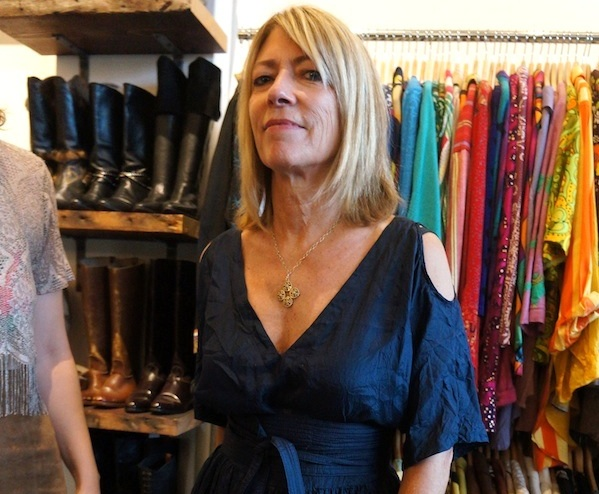 6721d11d8f92 Kim Gordon, rock goddess extraordinaire, stands in front of me in a  stunning party dress. We're in a quaint vintage boutique on Oakland, ...