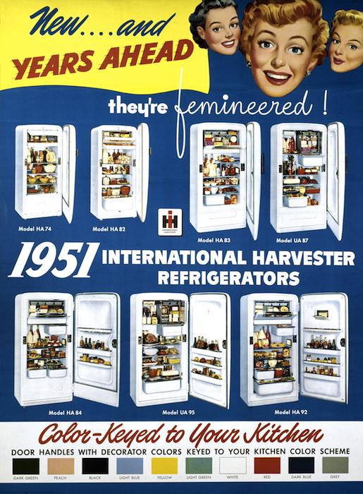 VINTAGE INTERNATIONAL HARVESTER IRMA HARDING FROZEN FOOD BOX ADVERTISING NOS