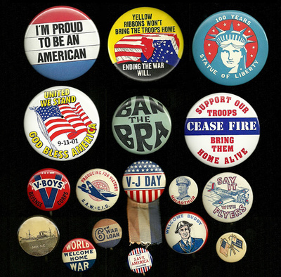 Vintage Lot Of 16 Old Button Pins Political And Easter Seals Used